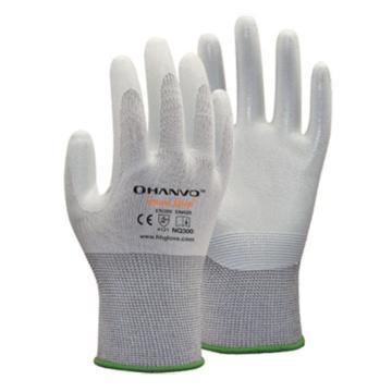 恒辉 丁腈涂层手套,NQ300-9,13针白尼龙掌浸