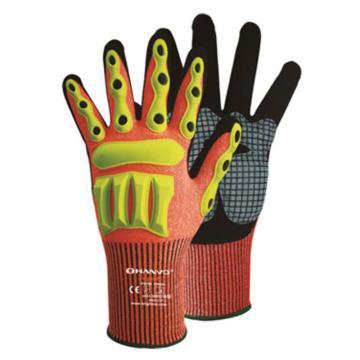 恒辉 机械手套,Z4NWX3100-9,13针黑色丁腈磨砂掌浸