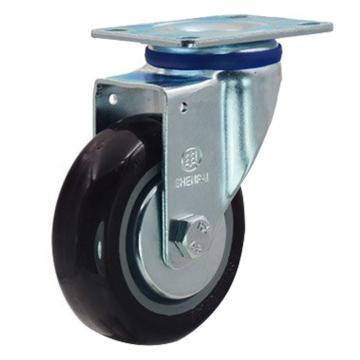 申牌 3寸尼龙中型脚轮,平底万向 载重(kg):105 轮宽(mm):30 全高(mm):108,20A01-1018