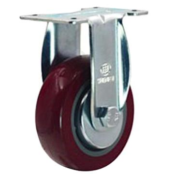 申牌 5寸聚氨酯中型脚轮,平底固定 载重(kg):145 轮宽(mm):32 全高(mm):160,20AB4-1017
