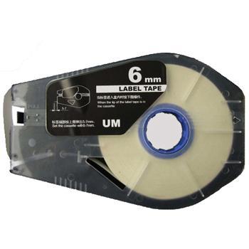 丽标 贴纸,TM-1106W 白色6mm长30m,适用丽标 线号机 单位:卷