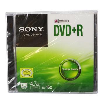 索尼 光盘,DVD+R 4.7G/16X 单片装 空白刻录盘 单位:片(售完即止)