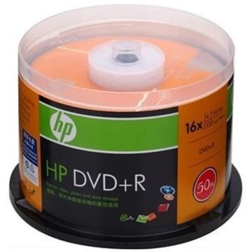 惠普 光盘,DVD+R 4.7G/16X 50片装 空白刻录盘 单位:桶