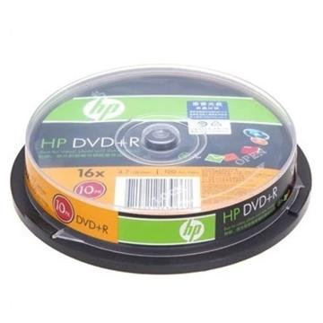 惠普 光盘,DVD+R 4.7G/16X 10片装 空白刻录盘 单位:桶