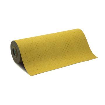 安赛瑞 吸油防滑地垫,黄色,聚丙烯基材,尼龙纤维加固,带背胶,宽76cm×长20m×厚2mm,39657