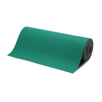 安赛瑞 吸油防滑地垫,绿色,聚丙烯基材,尼龙纤维加固,带背胶,宽76cm×长20m×厚2mm,39656