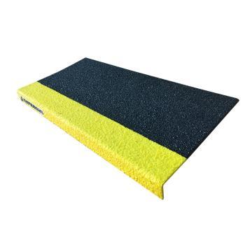 SAFEGUARD 楼梯防滑踏板,3mm玻璃钢,黑/黄边色,762×150×25mm(含安装配件),12089