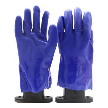 博尔格 乳胶防化手套,501,耐油耐酸碱手套 蓝色