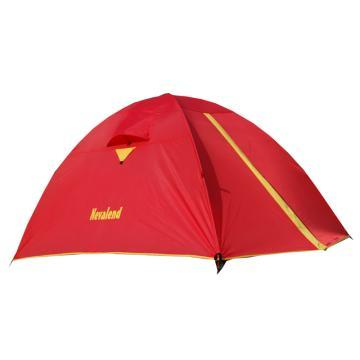 纳瓦兰德 自由牧峰2双人铝合金帐篷, 尺寸:(60+210+30)X140X110CM 鲜红+荧光黄 单位:个