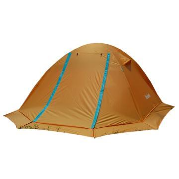 纳瓦兰德 苍穹之剑三人双层加雪裙铝合金帐篷, 橙色+白色 单位:个