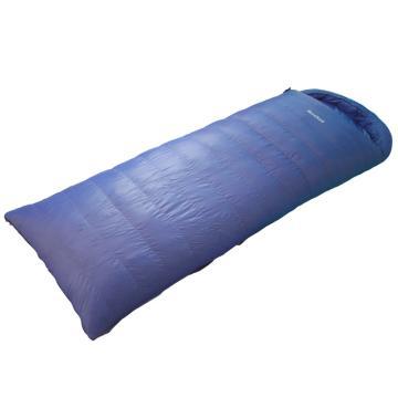 纳瓦兰德 信封羽绒睡袋,1000克加长加宽 零下18度~零度 蓝色 尺寸:230*90 单位:个