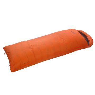 纳瓦兰德 信封羽绒睡袋,1200克加长加宽 零下28度~5度 橘色 单位:个