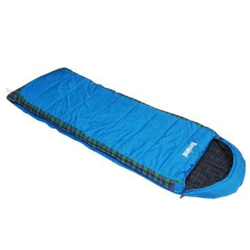 纳瓦兰德 信封加长加宽300g法兰绒睡袋,蓝色规格:(190+35)x80cm 零下8度~8度 单位:个