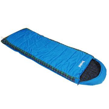 纳瓦兰德 信封加长加宽300g法兰绒睡袋,蓝色规格:(190+35)x80cm 零下10度~5度 单位:个