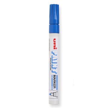 三菱 uni 记号笔, 油性记号笔 PX-20 2.2-2.8mm (蓝色) 粗头 单支