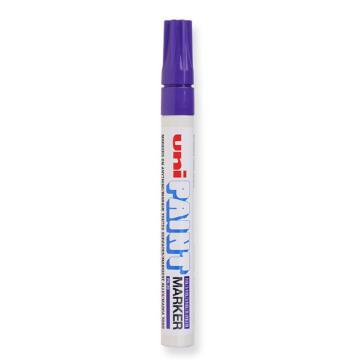 三菱 uni 记号笔, 油性记号笔 PX-20 2.2-2.8mm (紫色) 粗头 单支