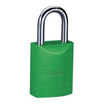 玛斯特锁MasterLock 6mm锁钩,锁钩净高27mm,绿色铝合金安全锁,6835MCNGRN