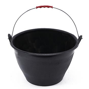 牛筋灰桶 水泥桶,黑色 上口径33高度21下口径22