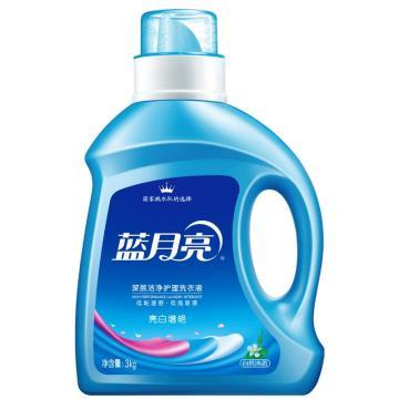 蓝月亮Bluemoon 深层洁净护理洗衣液,自然清香 3kg/瓶,新老包装随机发货 单位:瓶
