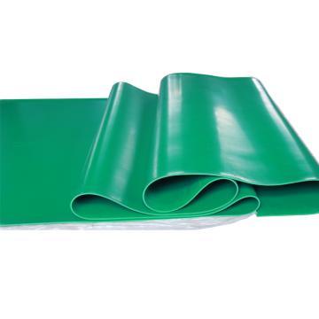 华泰 耐高压光面平面绝缘垫,绝缘胶板 绿色,3mm厚 1m宽 10米/卷,5kv