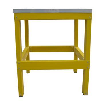 华泰 玻璃钢绝缘一层凳,额定载重(kg):150 耐压220KV 踏板尺寸(cm):50*50 梯高(cm):50,HT-049-02