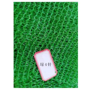 西域推荐 绿色扁丝防尘遮阳网,4针,尺寸(m):4*50,不包边不打孔