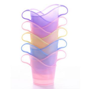 一次性纸杯杯托, 纸杯架 塑料饮水杯杯托开水隔热托 10个装(颜色随机) 单位:套