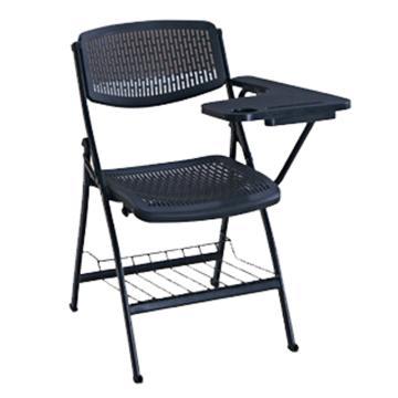 办公椅,带写字板折叠椅,培训椅黑色