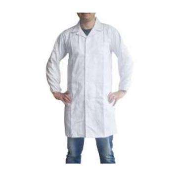 安防 男式大褂,H003M-175/XL,长袖全棉 白色