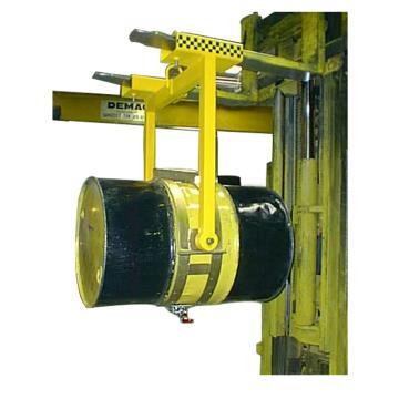 汉利 倒桶叉车桶夹,额定载荷(kg):400 长*宽*高(mm):1120*400*1080 360°旋转,HDV-1000