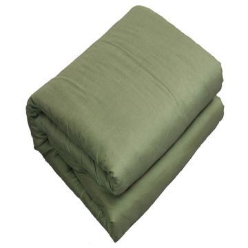 军绿色棉被,军训被子 学生棉被 可拆洗磨毛军绿被子【150X200】 4斤