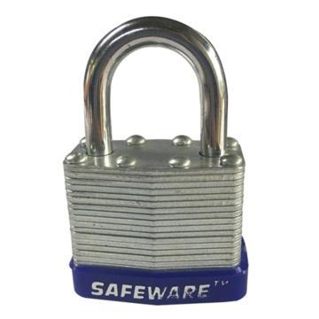 安赛瑞 钢制千层安全挂锁-蓝,锁梁Ф6mm,锁体长37mm,锁杆长度25mm,14707