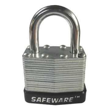 安赛瑞 钢制千层安全挂锁-黑,锁梁Ф6mm,锁体长37mm,锁杆长度25mm,14709