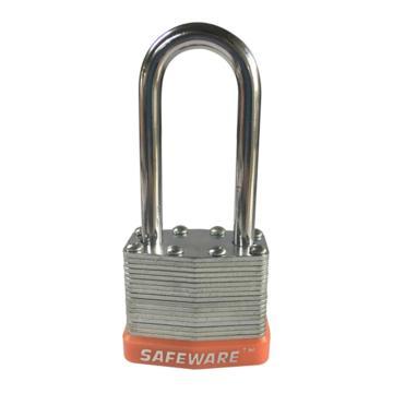安赛瑞 长梁钢制千层安全挂锁-橙,锁梁Ф6mm,锁体长37mm,锁杆长度52mm,14717