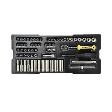 史丹利60件6.3MM系列公制套筒托盘组套,STMT74175-8-23