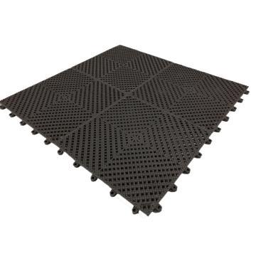 爱柯部落疏水垫,疏水防滑拼块地垫-经济型石墨黑,30×30cm 单位:片