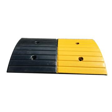Raxwell 条纹形橡胶减速带,长500×宽300×高35mm(不含端头,含安装配件)