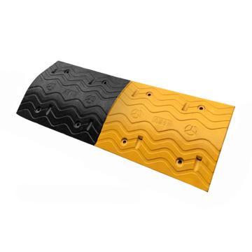 波浪型加宽减速带,1000×380×50mm(不含端头,含安装配件)