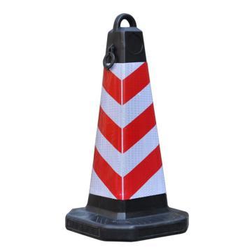 Raxwell 塑料提环方尖锥,红白,高700mm,底座320×320mm