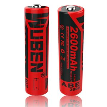 务本 ABE-2600毫安 双颗2600毫安18650锂离子电池 含双颗包装 单位:个