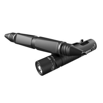 务本 LED钨钢攻击头笔灯,TP10 枪灰色,USB充电 含10180锂电池、施耐德笔芯、USB线,单位:个