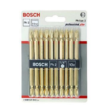 博世螺丝批头套装,Ph2 / 110mm 金色 10支,2608521043