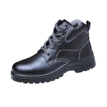 澳翔 安全鞋,AX079SB-44(同型号50双起订),牛皮中帮防砸安全鞋PU底