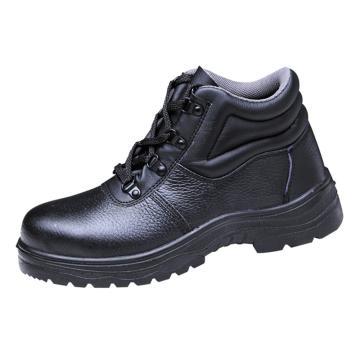 澳翔 安全鞋,AX080SBP-44(同型号50双起订),牛皮中帮防砸防刺穿安全鞋PU底