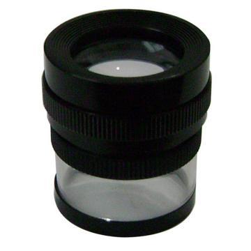 美精 放大镜,带刻度 圆筒式放大镜,10倍 32mm大口径