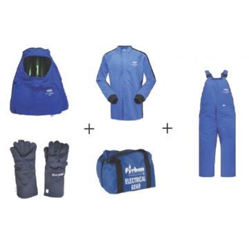 雷克兰Lakeland 43cal套装(含大褂,背带裤,手套,头罩,腿套,便携储藏包),深蓝,尺码:S