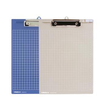 悠米 实色塑胶板夹,A4 平板夹 W05001GR灰1/个 单位:个