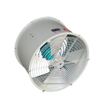 巨风 防爆壁式轴流风机(排风),BT35-11-4-0.25KW(380V),1450rpm,等级ExdⅡBT4,配玻璃钢防鸟弯头