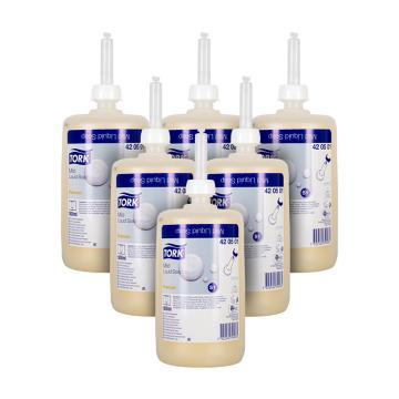 多康(TORK)温和型洗手液,420501,6只/箱 规格:1000ml/支 单位(箱)