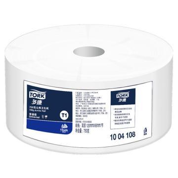 多康(TORK)公用卫生纸,750g 2层 1004108,12卷/箱 纸张规格:120*95